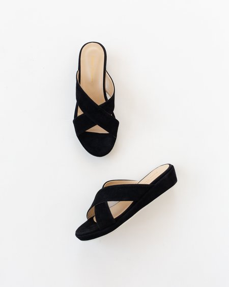 Anne Thomas Misha Slide - Black
