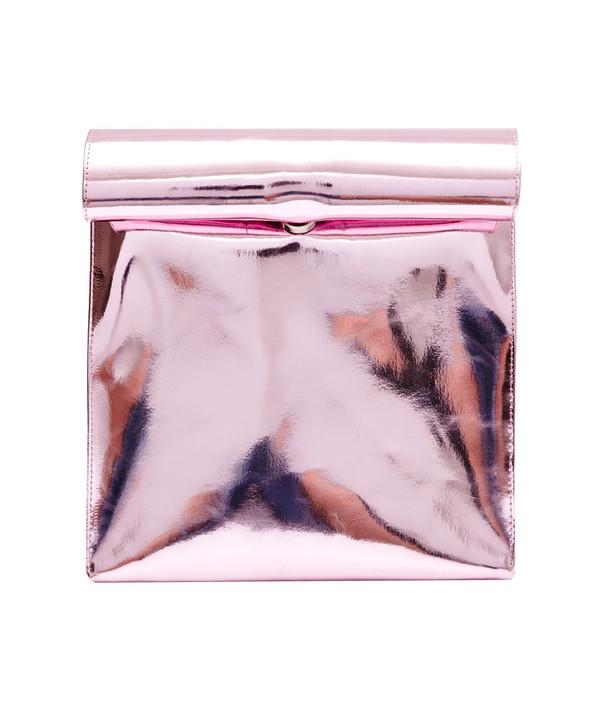 SMK Foldover Bag in Shiny Pink