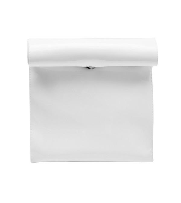 SMK Foldover Bag in White Vinyl