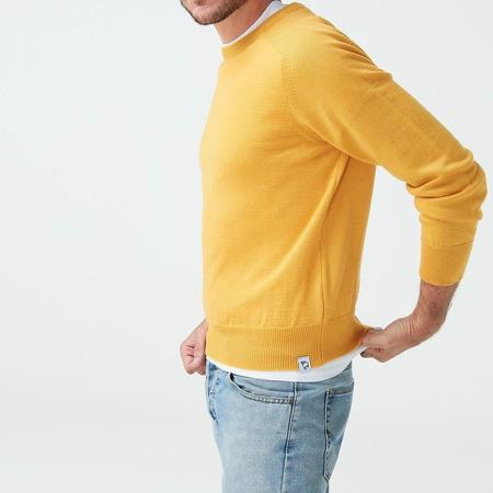 McIntyre Colin Merino Crew Neck Sweater - Yellow