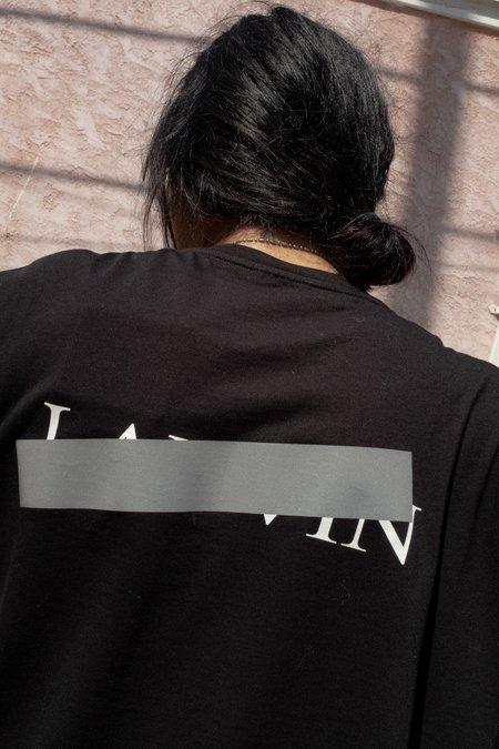 Lanvin Oversized 'Lanvin Barre' Print Tee - Black