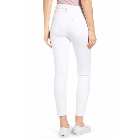 Citizens of Humanity Rocket Crop Mid Rise Skinny Sculpt - White