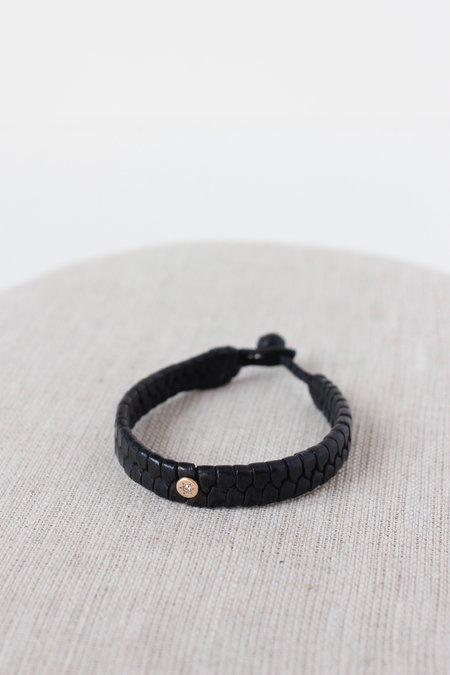 CLP 14K Braided Moroccan Bracelet with Diamond Dot