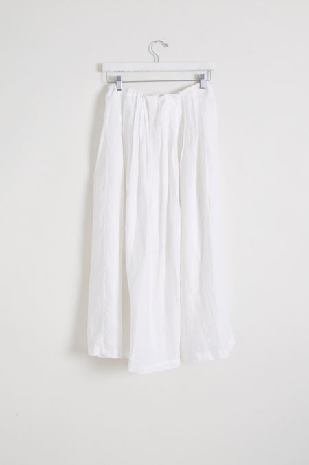 Garment Farmer Adjustable Pleated Skirt - white