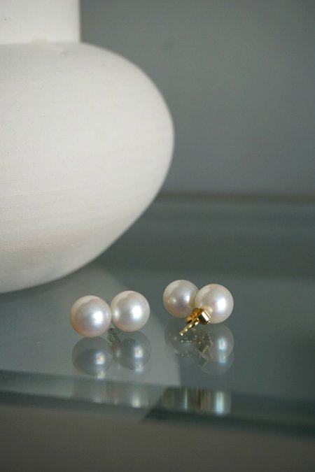 SASKIA DIEZ PEARL POP EARRINGS - 14K Gold