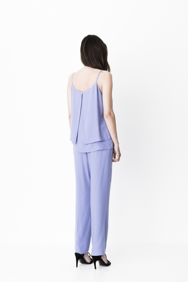 """Storm and Marie """"Lucca"""" Sleeveless Double Layer Top in Serenity"""