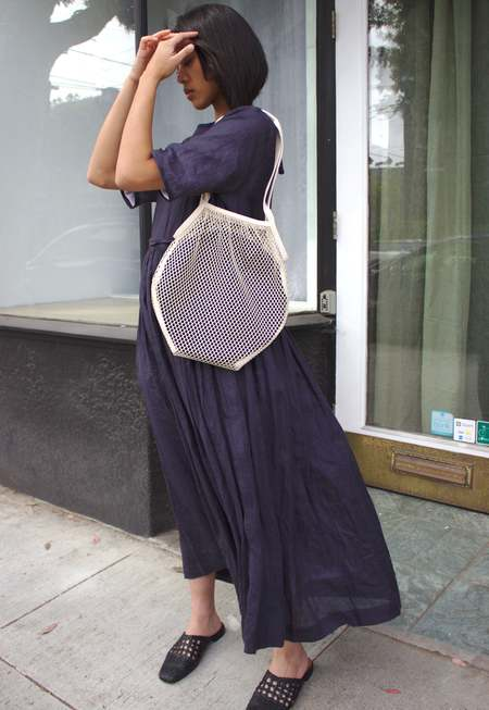 Lotfi Darya large net purse - natural