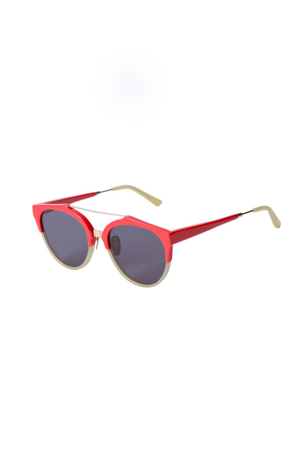 A.D.S.R. Acetate/Metal Red Sunglass