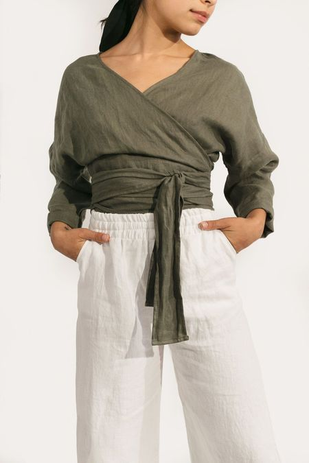 Two Fold Clothing Linen Long Sleeve Clara Top