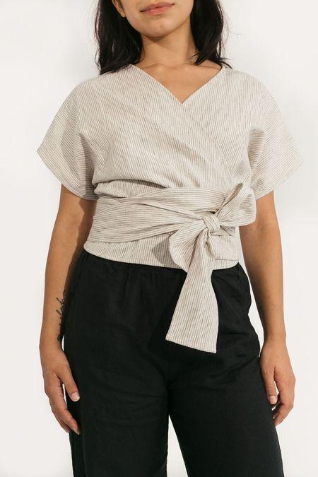 Two Fold Clothing Cotton/Linen Short Sleeve Clara Top