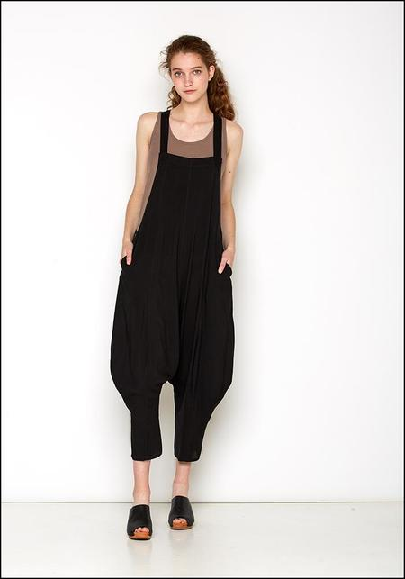 De La Rosa Loose Leg Jumpsuit - black