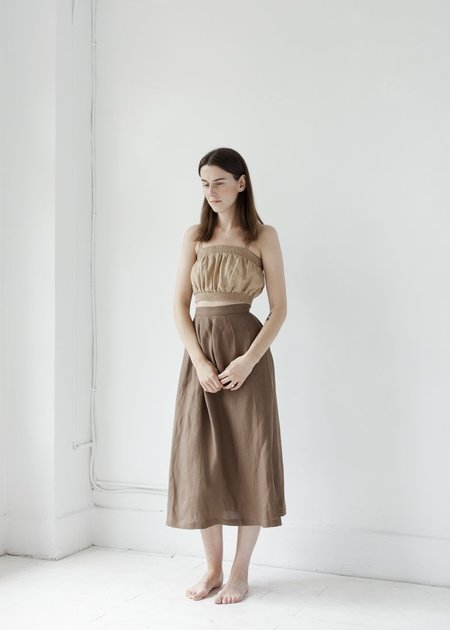 First Rite Pleated Skirt - Cocoa