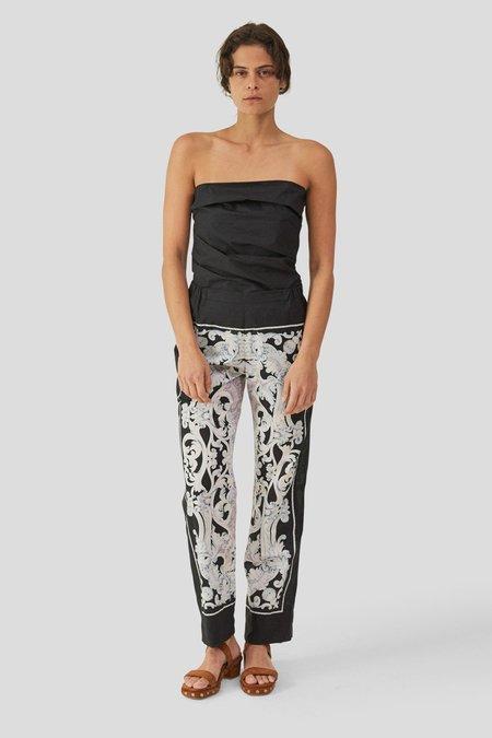 Rachel Comey MOTT PANT FOULARD COTTON VOILE - BLACK