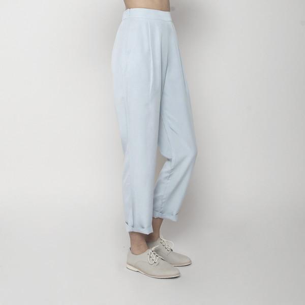 7115 by Szeki Relaxed Tapering Trouser- Sky Blue SS16