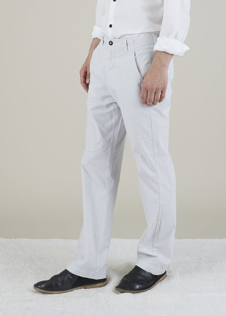 Hannes Roether Tampas Pinstripe Trouser - Light Grey