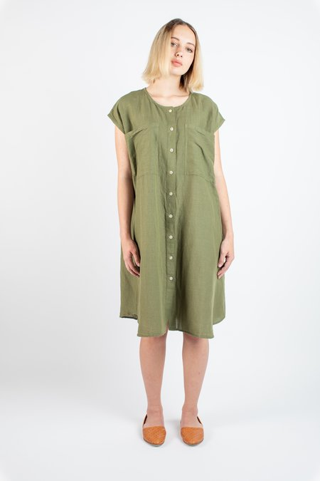 Revisited Matters Ida dress - Moss stripe