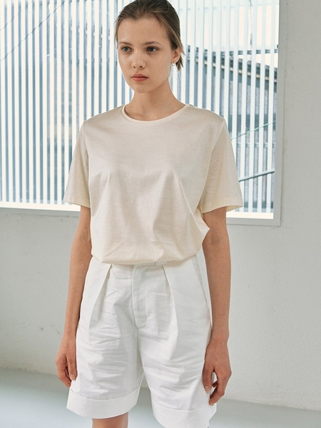 Facade Pattern Everyday Summer Shorts - Off White
