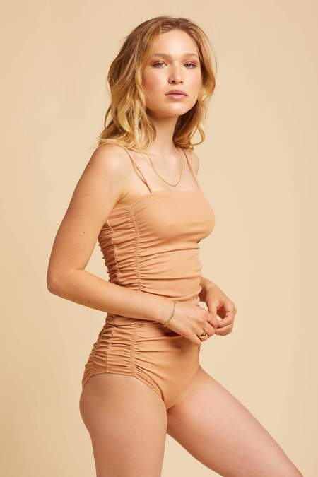 Free People Clay On Your Side Bodysuit - Fossil