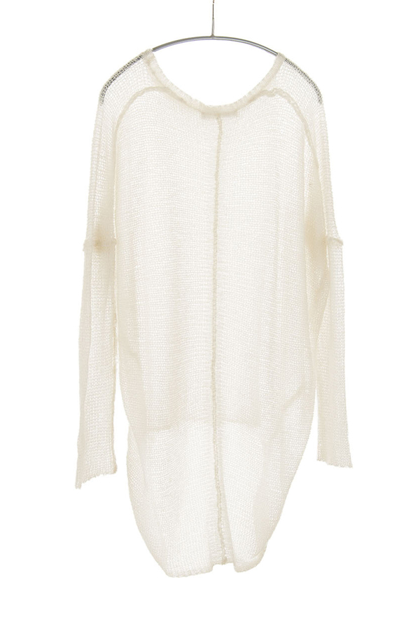 Paychi Guh Sheer Pullover White