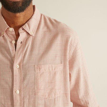 Corridor Natural Check Shirt - Red Tattersal