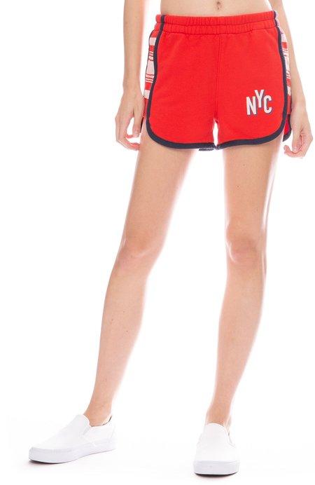 Mother Denim Triple Running Mate Shorts - Nueva York