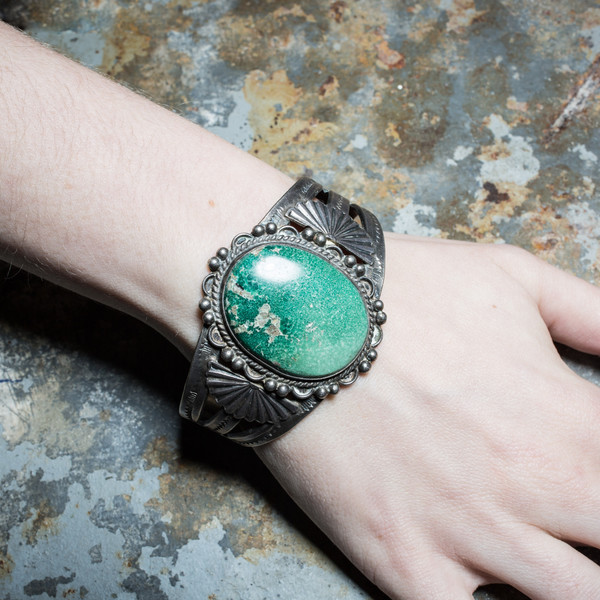 Rider For Life Giant Turquoise Bracelet