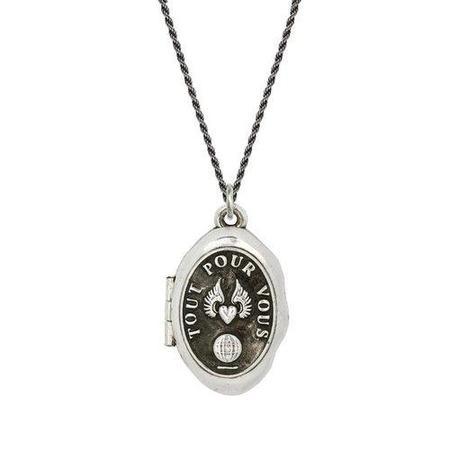 Pyrrha Winged Heart Locket Necklace - Sterling Silver