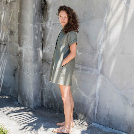 Sara Ruffin Costello Smock Dress - Green
