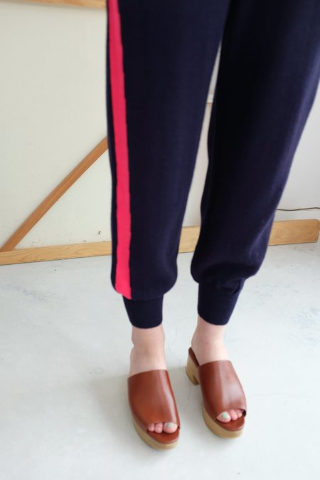 A Détacher Kiev Pant - Navy/Red Fluo