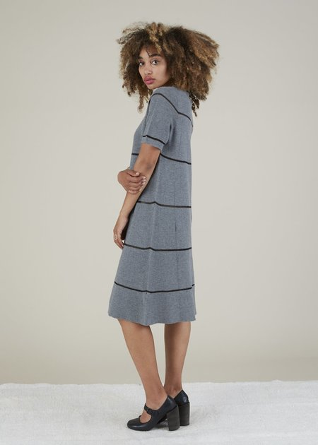 Hannes Roether Tiara Knit Dress - Grey/Black