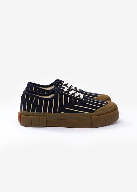 Unisex Good News Hurler 2 Low Sneakers - Navy/Brown Stripe