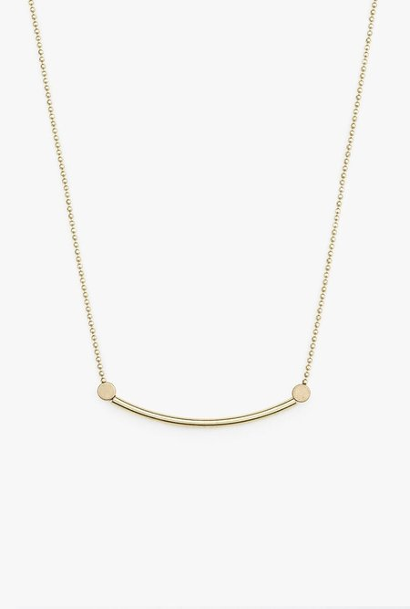Ak Studio Plateau Necklace - Brass
