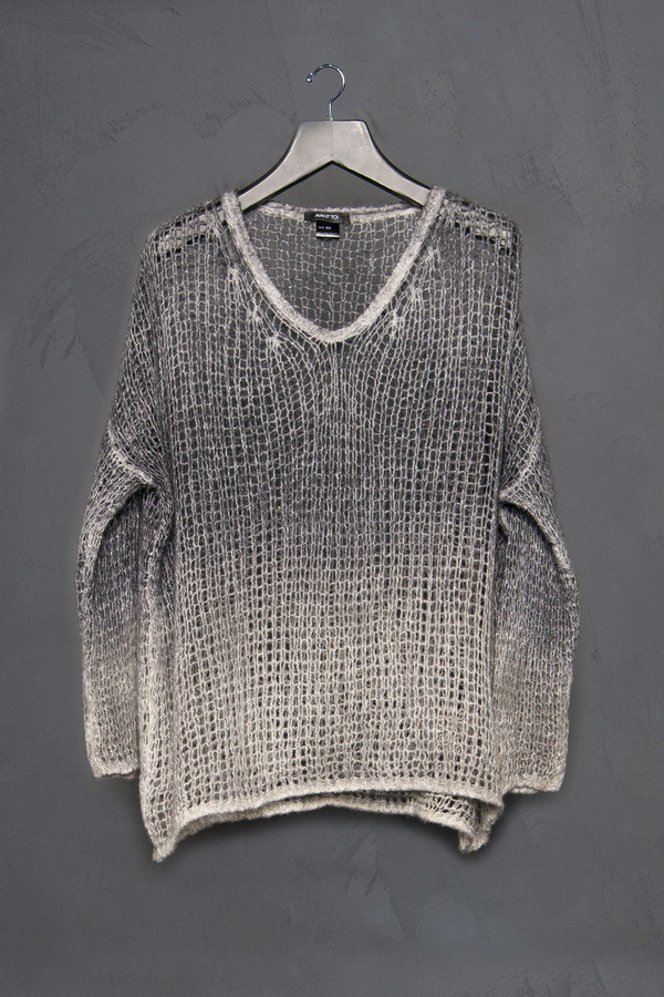 Avant Toi V Neck Open Stich Sweater