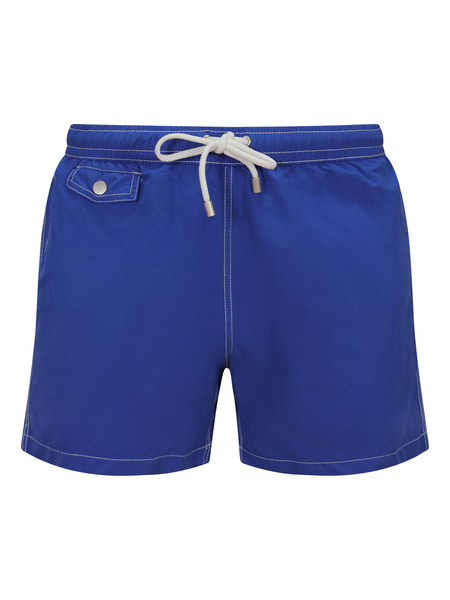 Hartford Boxer Swim Short - Worker Blue