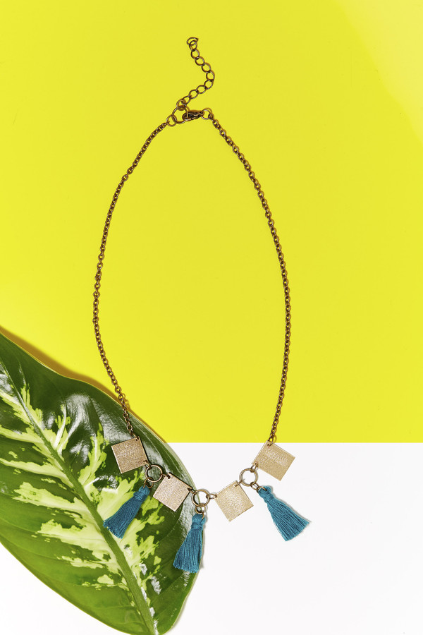 Geography 541 Eventyr Collar Necklace- Turquoise