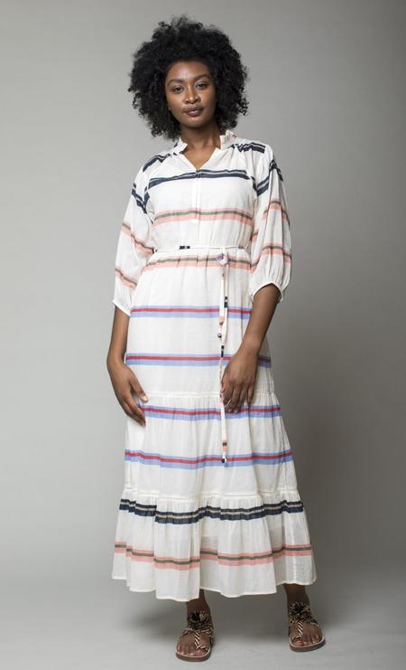 Apiece Apart Granada Maxi Dress - Light Stripes