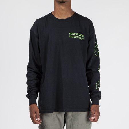 Surf is Dead Love Away Long Sleeve T-shirt - Black