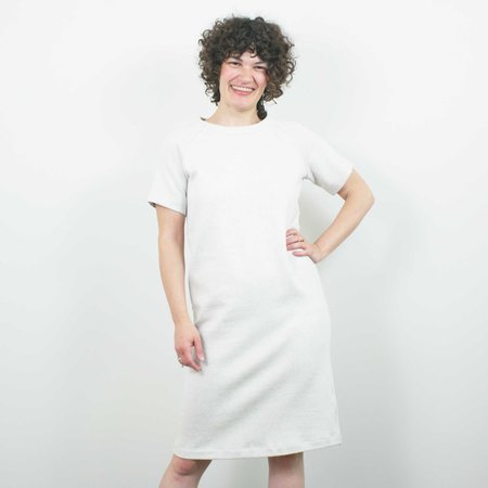 Atelier b. Straight Cut Dress w/Sleeve - Sea Salt