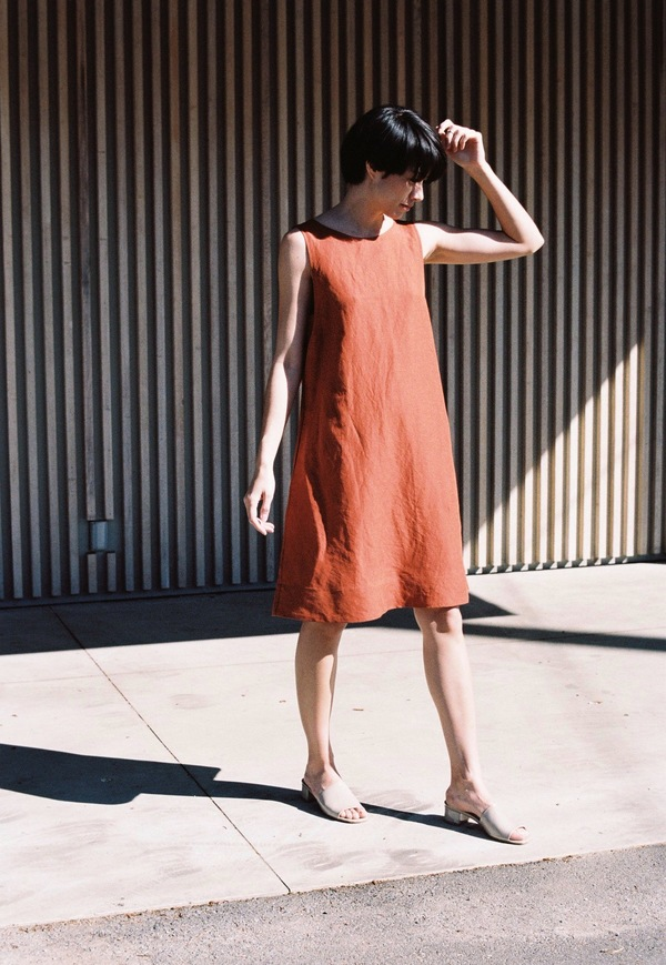 Creatures of Comfort Short Aldo Dress - cayenne