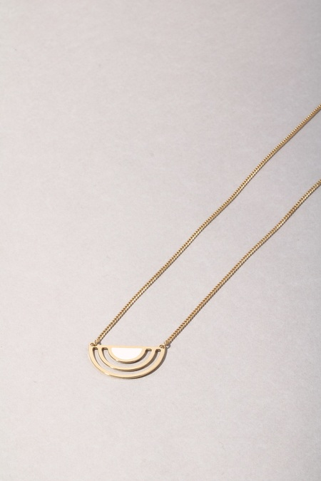 Anne Thomas Sunset Necklace - White