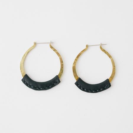 Crescioni leather kiva earrings