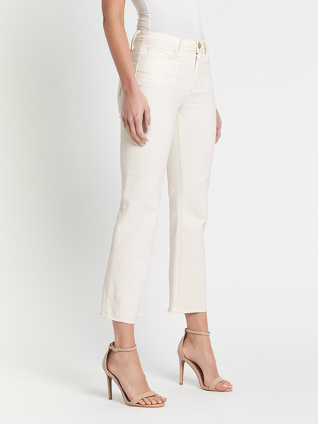 Paige Atley Ankle Flare Jean - Sweet Creme