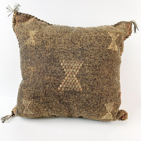 Vintage Eclectic Collective Silk Sabra pillow - Brown