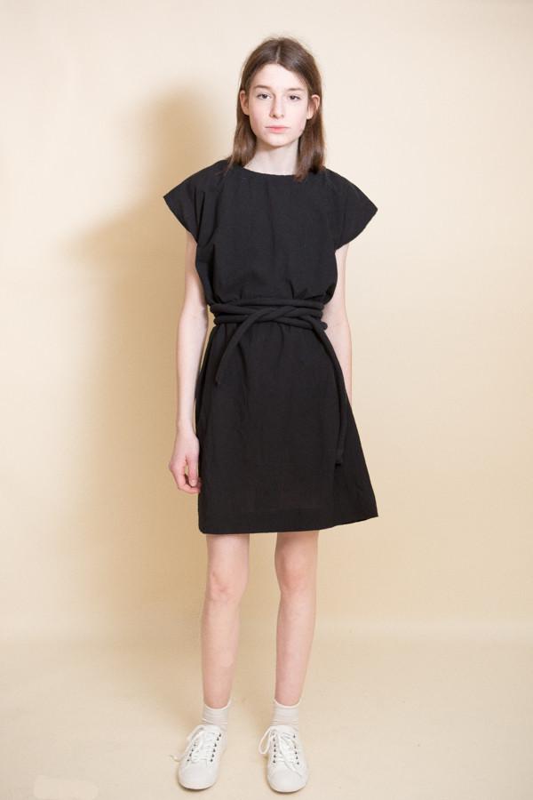 Uzi NYC Piped Dress / Black