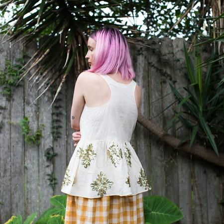 Caron Callahan Kate Tank - White Muslin with Applique