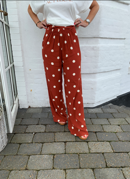 Just Female Caia Trouser - Red Polka Dot
