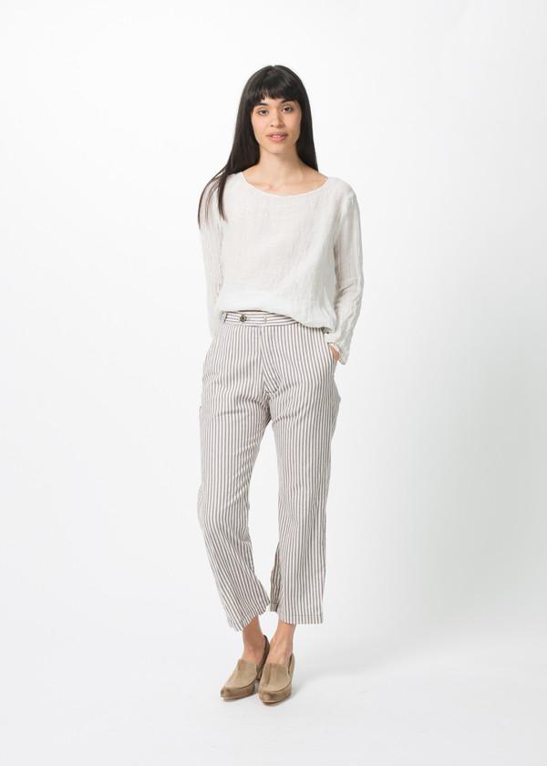 Hazel Brown Stripe Pant