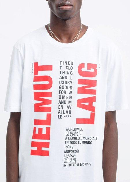 Helmut Lang Worldwide T-Shirt - White
