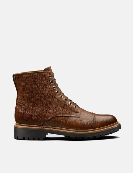 Grenson Hand Painted Grain Joseph Boot - Tan