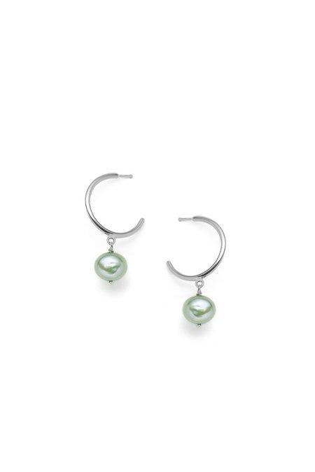 Nina Janvier Béatrice Earrings - Silver/Gree